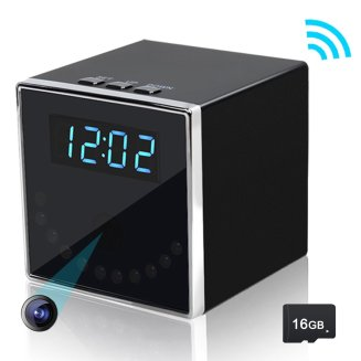 TOGUARD 1080P HD Caméra Espion Cachée Wifi Horloge De Table  camera espion