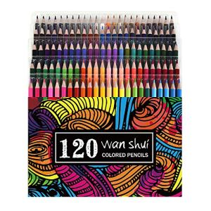120 Colored Pencils – Premium Soft Core 120 Unique Colors No Duplicates Color Pencil Set for Adult Coloring Books, Artist Drawing, Sketching, Crafting