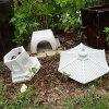 Cement-PAGODA-Lantern-16H-3-piece-GRAY-CONCRETE-Outdoor-Garden-Statue