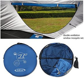 G4Free-Pop-up-Tents-3-4-Person-UV-ProtectionVentilated-2-Doors-2-Mesh-WindowsTop-WindowBaby-Family-Privacy-Automatic-Sun-Shelter-for-Outdoor-Beach-Hiking-Traveling-Backyard-Backpacking