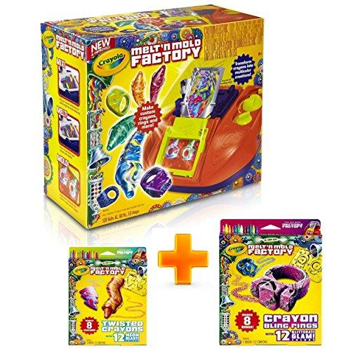 Crayola Melt 'N Mold Factory BUNDLE (3 in 1) |Make