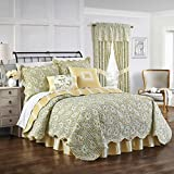 Waverly 15546BEDDKNGSPR Paisley Verveine 104-Inch by 90-inch King Reversible Quilt Collection, Spring