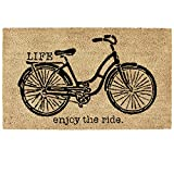 DII Natural Coir Fiber, 18x30 Entry Way Outdoor Door Mat with Non Slip Backing-Bicycle