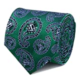 DC Comics Superman Green Paisley Tie, Officially Licensed