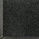 WaterHog Eco Commercial-Grade Entrance Mat, Indoor/Outdoor Black Smoke Floor Mat 6' Length x 4' Width, Black Smoke by M+A Matting