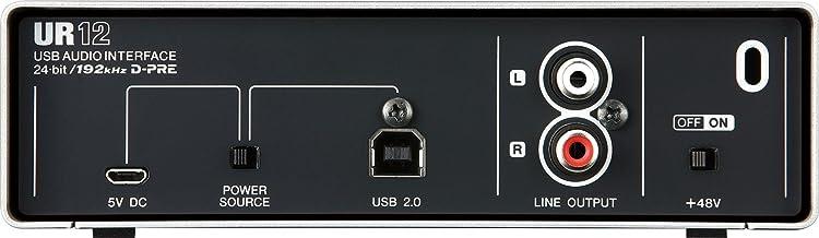 Steinberg UR12:リアパネル