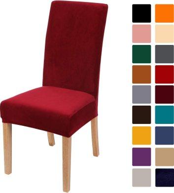 Smiry Velvet Dining Chair Slipcovers