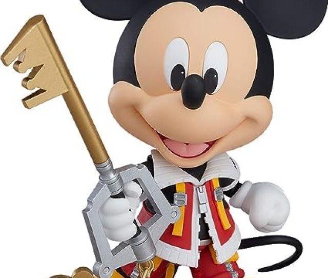 Amazon Com Good Smile Kingdom Hearts Ii Mickey Nendoroid Action Figure Toys Games