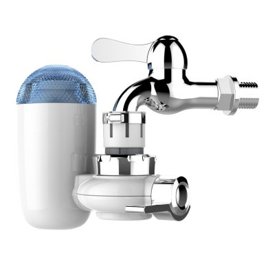 IREALIST Faucet Water Filter, Vertical Faucet Mount Drinking Tap Water Filter & Purifier System