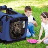 2PET Foldable Dog Crate - Soft, Easy to Fold & Carry Dog Crate for Indoor & Outdoor Use - Comfy Dog Home & Dog Travel Crate - Strong Steel Frame, Washable Fabric Cover, Frontal Zipper - Choose Yours. 5