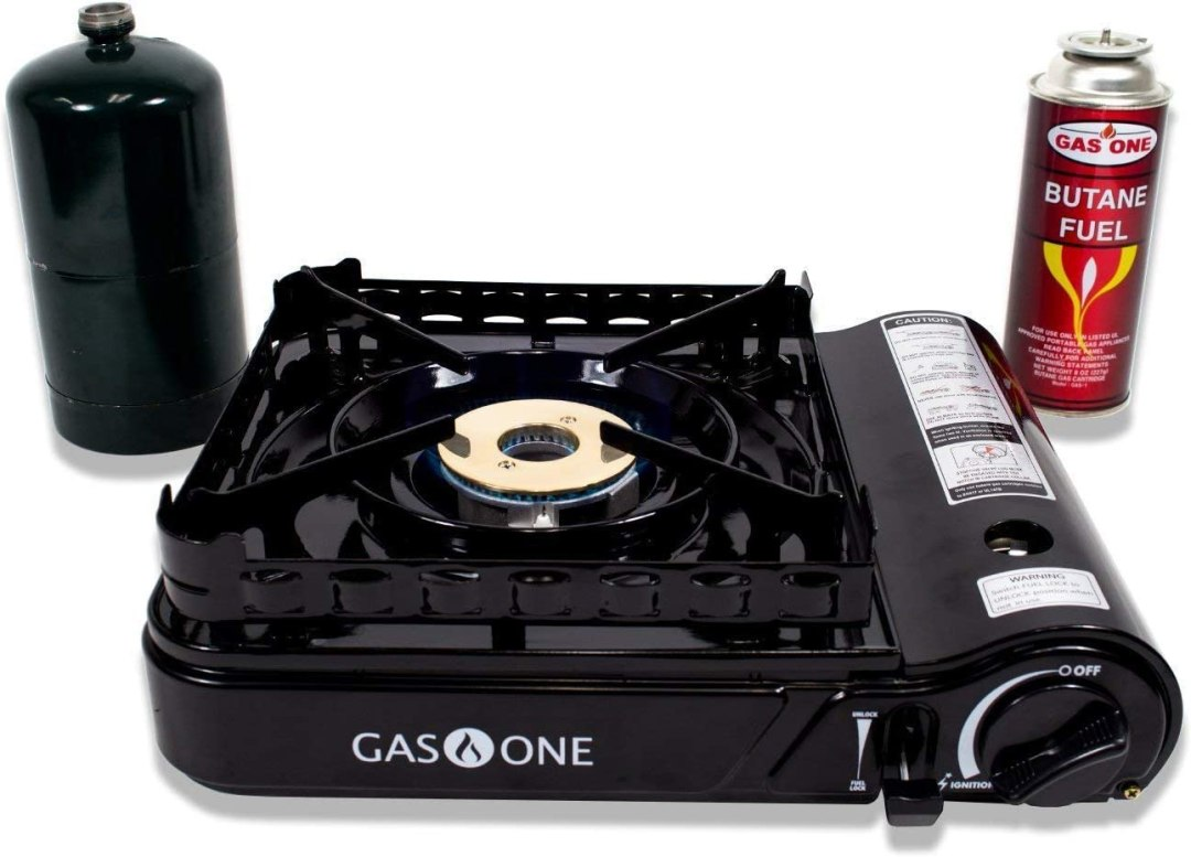 portable lightweight camping stoves with fuel tank and propane cylider
