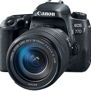 Canon EOS 77D 24.2MP Digital SLR Camera + EF-S 18-135 mm 3.5-5.6 is USM Lens with 16 GB Card Inside and Camera Case