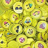 Fort Knox Unique Emoji & Emoji Poop Cake Milk Chocolate Coins with Stickers Non-GMO, (Gift Box12oz)