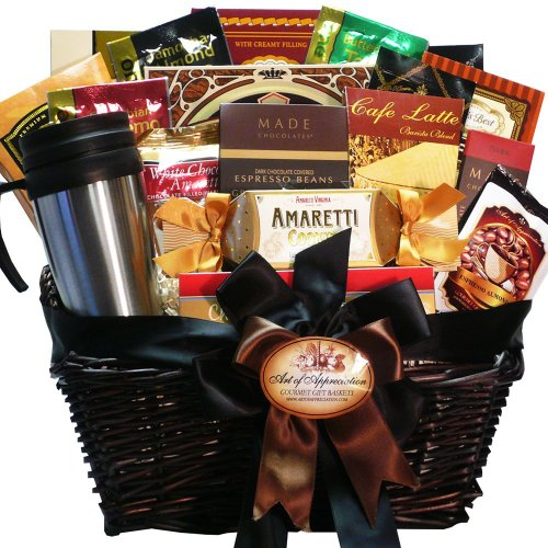Coffee Connoisseur Gourmet Food Gift Basket - I like the variety in this basket, that it is a BIG basket and Love the mug.