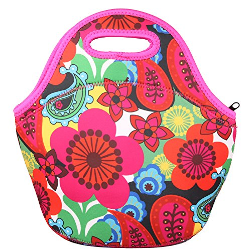 OUFO Neoprene Insulated Thermal Lunch Bag