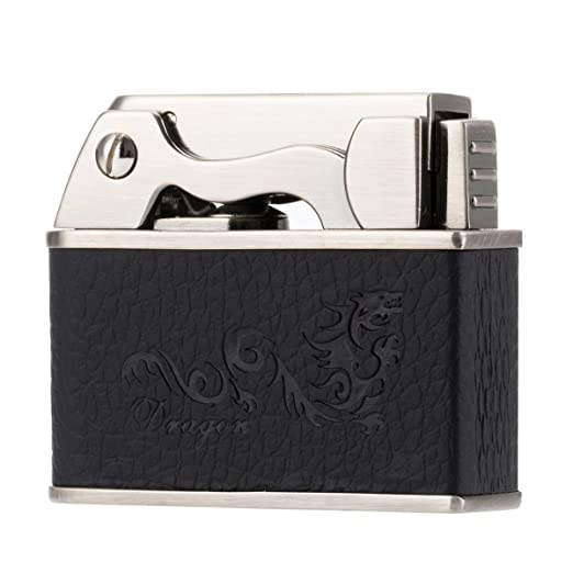 Scotte Button switch Automatic lighters tobacco pipe lighter Kerosene/Petrol lighter (black)