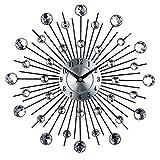 Timelike Crystal Wall Clock - Celebration Decorative Metal Wall Clock (13 Inch, Linear radiation)