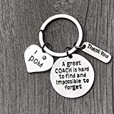 Pom Coach Charm Keychain, Great Coach is Hard to Find But Impossible to Forget Jewelry, Pom Coach Gift