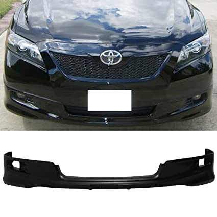 Com Front Per Lip Fits 2007 2009 Toyota Camry Oem Factory Se Style Black Pu Finisher Under Chin Spoiler Add On By Ikon Motorsports