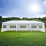Mefeir 10'x30' Outdoor Canopy party wedding Tent with 8 Removable Panels Sidewalls,Upgraded Tube,Waterproof Sun Shelter Anti UV Protection for carport Gazebo Shed Beach Backyard Pool