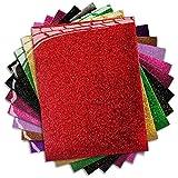 MiPremium PU Heat Transfer Vinyl - Iron On Vinyl Starter Pack, Assorted HTV Glitter Bundle Kit of Heat Press Vinyl in 10 Most Popular Colors, Easy to Cut & Press Glitter HTV Vinyl (Glitter X 10)