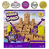 Kinetic Sand Beach Sand Kingdom Playset with 3lbs of Beach Sand (ages 3+)
