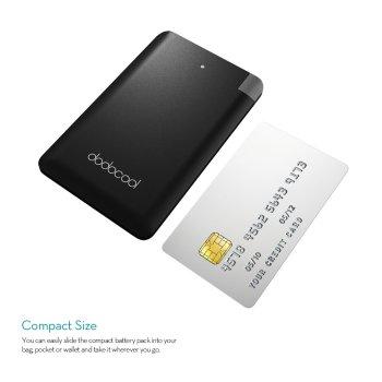 dodocool  モバイルバッテリー  充電器 極薄  2500mAh iPhone Samsung LG HTC などスマホ用 (黒)