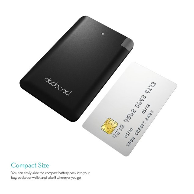 dodocool モバイルバッテリー 充電器 極薄 2500mAh iPhone(iPhone 7 /7plus/SE / 6s Plus / 6s / 6 Plus / 6 / 5s等) Samsung LG HTC などスマホ用
