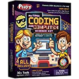 Playz My First Coding & Computer Science Kit - Learn About Binary Codes, Encryption, Algorithms & Pixelation Through Fun Puzzling Activities Without Using a Computer for Boys, Girls, Teenagers, Kids