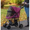 Pet Gear No-Zip Happy Trails Lite Pet Stroller for Cats/Dogs, Zipperless Entry, Easy Fold with Removable Liner, Storage Basket + Cup Holder 5