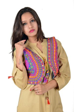 Women Ethnic Cotton Short Jackets