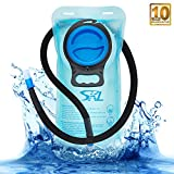 Hydration Bladder 2 Liter SKL Water Bladder for Hydration Pack Leak Proof BPA Free Water Backpack for Hiking, Running, Cycling, Biking, Climbing, kids, Adults, Quick Release Insulated Tube, Blue(2L)