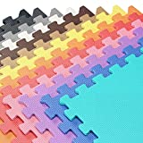 We Sell Mats 48 Square Ft Foam Interlocking Floor Square Tiles (Green, 48 SQFT (12 Tiles + Borders))