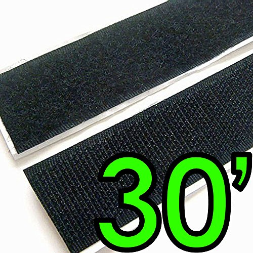 Electriduct 2' Adhesive Backed Hook & Loop Sticky Back Tape Fabric Fastener - 30 Feet