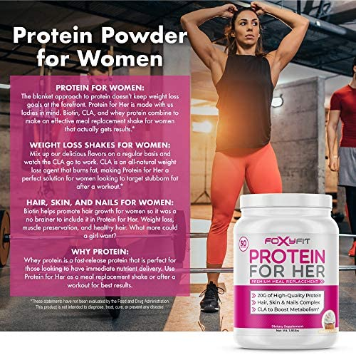 Whey Protein Powder for Women by Foxy Fit - Protein to Help with Weight Management and Healthy Hair Growth with CLA and Biotin (Vanilla Cupcake 1.85 lbs.) 6