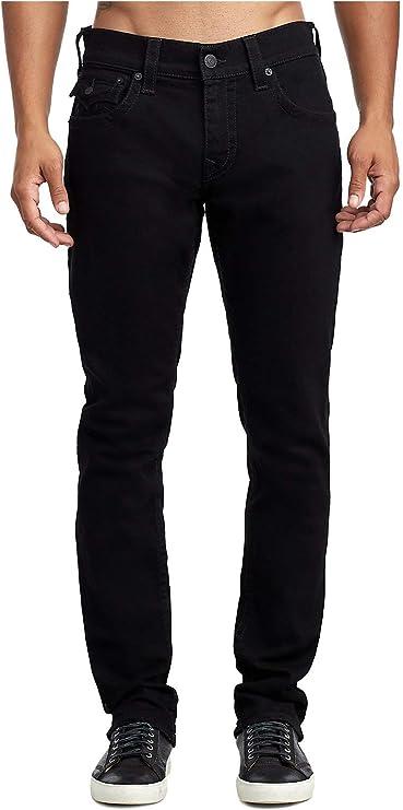 Pantalones-vaqueros-con-solapas-para-hombre-color-negro