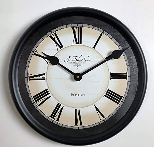 Amazon Com Carolina Gray Wall Clock Available In 8 Sizes Most Sizes Ship The Next Business Day Home Kitchen