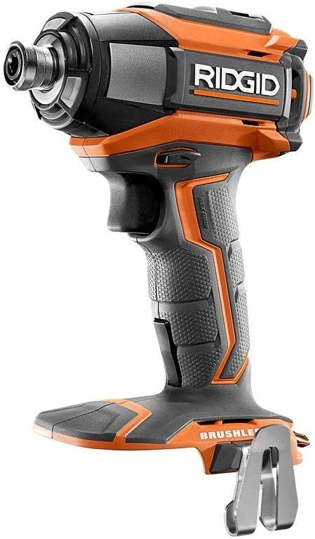 Ridgid R86037 18v Lithium Ion Cordless Brushless Impact Driver W Led Lighting And Quick Eject Chuck Battery Not Included Power Tool Only Amazon Com