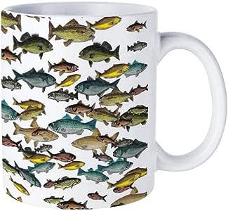 Ceramic Coffee/Tea Cup Gift, Fish Beach Nautical