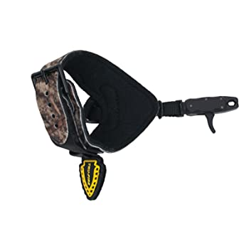 TruFire Hurricane Extreme Buckle Web Archery Compound Bow Release - Adjustable Camo Buckle Wrist Strap