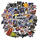 Batman Laptop Stickers 45pcs, Cool Kids/Teen Vinyl Computer Waterproof Water Bottles Skateboard Luggage Decal Graffiti Patches Decal (The Dark Knight)
