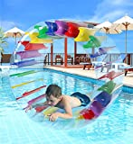 Greenco Kids Colorful Inflatable Water Wheel Roller Float 52' Diameter