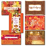 Thanksgiving Greeting Card Assortment. 30 cards, 31 Foil Lined Envelopes. A Variety Box Set Of 6 Different Seasonal Cards and Verses Designed and Written For Both Personal and Business Use.