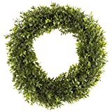 Pure Garden 50-152 Artificial Hedyotis 15 inch Round Wreath