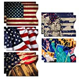 RFID Blocking Sleeves (10 RFID Blocking Sleeves, 5 Unique Designs) Identity Theft Protection Travel Case Set (American Element) (Side Load)