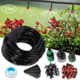 AGSIVO Drip Irrigation Kit System for 1/2'' and 5/8'' Faucet with 82ft Watering Hose Irrigation Sprinkler System Kit Self Plant Garden Hose Watering Kit for Garden Greenhouse, Flower Bed,Patio,Lawn