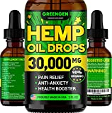 Stress & Anxiety Relief - Premium 30000 MG SUPERSTRONG Hemp Oil Blend - Made in USA - Best Immunity & Mood Support - 100% Safe & Natural - Provides Deep Sleep - No GMO - Omega 3, 6 & 9