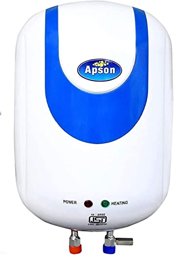 Apson Geyser Supreme I 10 Litre Geyser 2 KVA 4 Star Rated Vertical Storage Water Heater Anti Rust Coated Tank Geyser With 5 Year Warranty Premium (White) Made In India