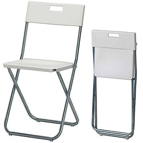 Ikea Gunde Sedia Pieghevole Colore Bianco
