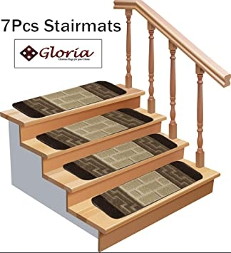 Gloria Carpet For Stairs Stair Rug Skid Resistant Indoor Outdoor | Floral Carpet For Stairs | Modern | Brown Pattern | Pattern | Laminate | Diamond Pattern